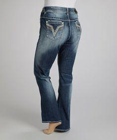 Look at this #zulilyfind! Medium Wash Embroidered Dublin Bootcut Jeans - Plus by Vigoss #zulilyfinds
