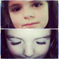 If everyone had natural lashes like sweet Katelyn then @Lash Moi would be out of business! #jealousofa5yearold