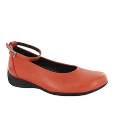 Another great find on #zulily! Red Orange Seraphina Ankle Flat - Women by Wolky #zulilyfinds