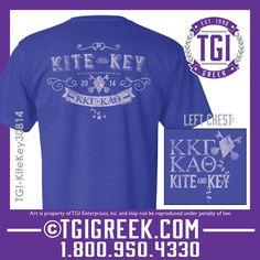 TGI Greek - Kappa Kappa Gamma - Kappa Alpha Theta Kite and Key #tgigreek #kappakappagammadesigns #KappaAlphaTheta #Kiteandkey #comfortcolors