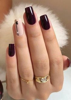 Look for the latest and most popular nail designs, acrylic nails . - Look for the latest and most popular nail designs, acrylic nails … …. # nails # of course - Red Nail Art, Purple Nail, Burgendy Nails, Magenta Nails, Nails Turquoise, Nude Nails, Gel Nails, Nail Polish, Coffin Nails