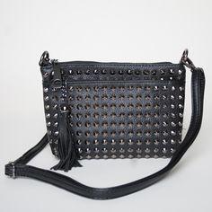 Rebel Studded Bag - Black #fashion #stylebox