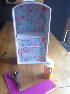 Trash to Treasure: American Girl Doll Furniture. Made from dresser drawer. Do this for Kiera!