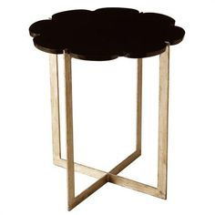 Hayden marble iron side table by Arteriors.