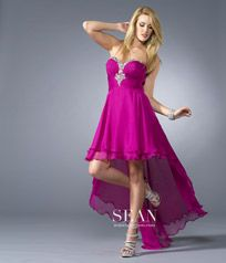 Sweetheart Chiffon High to Low Beading Fuchsia Prom Dresses - Prom Dresses Hot Sale - Special Occasion Dresses Prom Dress Shopping, Prom Dresses For Sale, Homecoming Dresses, Dress Prom, High Low Hem Dresses, Dressy Dresses, Dress Outfits, Chiffon Evening Dresses, Formal Evening Dresses