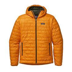 Patagonia Mens Nano Puff Hoody Sporty Orange #Patagonia #men #fashion #nanopuff
