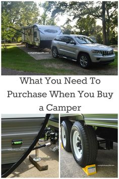 What You Need To Purchase When You Buy a Camper/Travel Trailer; camping | mybigfathappylife.com
