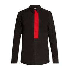 Givenchy Contemporary-fit single-cuff shirt ($395) ❤ liked on Polyvore featuring men's fashion, men's clothing, men's shirts, men's dress shirts, black multi, mens slim shirts, mens dress shirts, mens panel shirts, mens french cuff dress shirts and mens cotton dress shirts