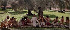 "The Last Supper as depicted in the 1973 Norman Jewison film, ""Jesus Christ Superstar"" Jesus Christ Superstar 1973, Jesus Last Supper, What Would Jesus Do, Jesus Stories, Mary Magdalene, Jesus Cristo, Great Films, Film Stills, Art History"