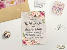 Floral Bridal Shower Invitation Printable Spring by DigartDesigns