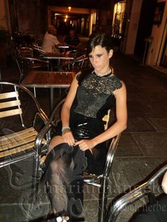 styliste en herbe Marianna D'Angelo Lab Creations .nicol .romanik heavy black long dress
