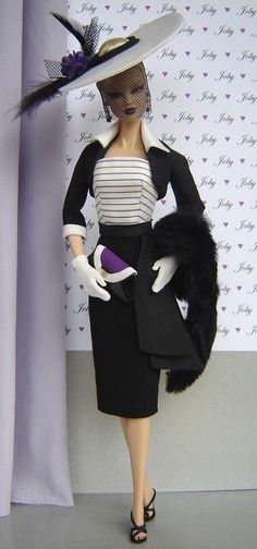 Barbie Wearing Vintage Royalty Fashions ~~ Reminds Us of Princess Diana <3