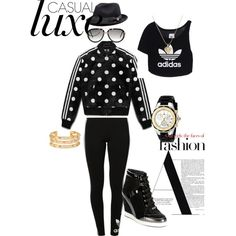 I AM JMADDD STYLES.... by johncm on Polyvore featuring polyvore fashion style adidas Originals Jimmy Choo Michele Tory Burch Juicy Couture Cazal