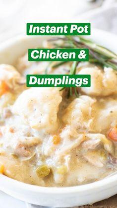 Instant Pot Pasta Recipe, Best Instant Pot Recipe, Instant Recipes, Instant Pot Dinner Recipes, Instant Pot Meals, Instapot Recipes Chicken, Crockpot Recipes, Cooking Recipes, Instapot Chicken And Dumplings