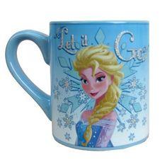 Disney Frozen Elsa Let it Go Glitter 14 oz. Mug Coffee Tea Kids