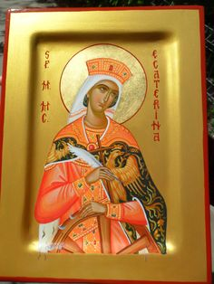 Katherine of Alexandria St Catherine Of Alexandria, Religious Tolerance, Byzantine Icons, Catholic Prayers, All Icon, Orthodox Icons, Christianity, Religion, Tempera