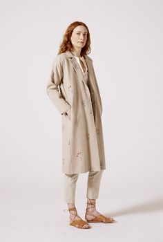 Countless charming handmade details in this jacket. Slow fashion at its most, truly a unique piece. Slow Fashion, Duster Coat, Clothes For Women, Unique, Jackets, Handmade, Shopping, Outfits For Women, Down Jackets