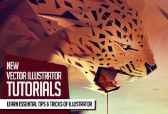 Learn new illustrator techniques, how to drawing and making of vector graphics, low-poly and vector portraits. In this collection we're gathered fresh Graphic Design Tutorials, Art Tutorials, Adobe Illustrator Tutorials, Illustrator Career, Ai Illustrator, Spiritual Animal, Magic Design, Vector Portrait, Branding