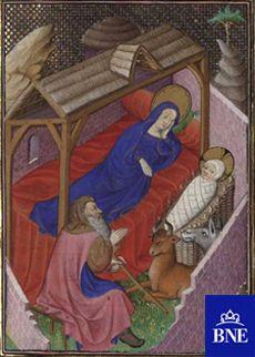 Libro de horas, según el uso de Roma, manuscrito del s.XV (Vitr/25/1-49,f22r) BNE BDH http://bibliotecadigitalhispanica.bne.es:80/webclient/DeliveryManager?pid=1744698_att_2=simple_viewer