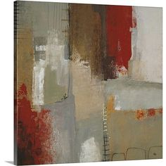 """Canvas On Demand 'Color of Play' by Lisa Ridgers Painting Print on Canvas Size: 16"""" H x 16"""" W x 1.25"""" D"""