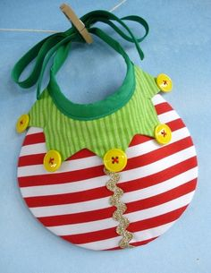 Baby Bib Sewing Pattern for Elf Tree and by preciouspatterns