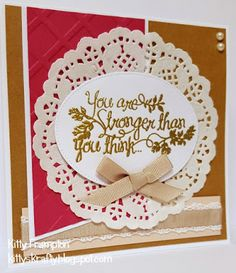 Made for Quick Cards Made Easy using Stampin Up Heartfelt Sympathy Stamps.