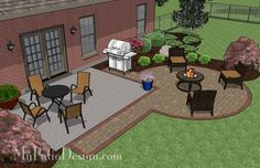 - DIY Circle Patio Addition Design with Grill Pad 240 sq. - DIY Circle Patio Addition Design with Grill Pad Backyard Patio Designs, Large Backyard, Diy Patio, My Patio Design, Backyard Ideas, Concrete Patio Designs, Desert Backyard, Backyard Seating, Terrasse Design