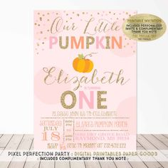 Hey, I found this really awesome Etsy listing at https://www.etsy.com/listing/242421034/pumpkin-invitation-our-little-pumpkin