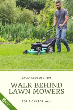 Check out this guide for our pick of walk-behind mowers. Walk behind mowers have better control, more stability, and better traction. They allow you to be close to the ground so you can see obstacles in your mower's path and move them out of the way.