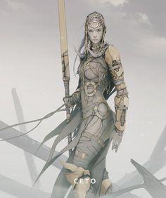 Ceto - barbarian sorceress - by Philipp Kruse  https://www.artstation.com/artwork/c-e-t-o