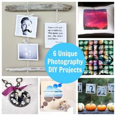 6 DIY Photography Projects - very cool ideas and you can get 4x4 and up prints from your Instagrams (or upload) at Ink361.com for these projects