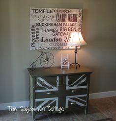 The Sagebrush Cottage: Distressed Style Union Jack Dresser