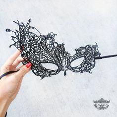 Black Lace Maskerade Maske  eleganten von 4everstore auf Etsy