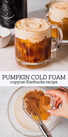 Coffee Drink Recipes, Starbucks Recipes, Coffee Drinks, Dessert Recipes, Desserts, Iced Coffee, Starbucks Drinks, Pumpkin Recipes, Fall Recipes