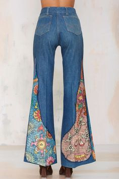 Hand-Painted Libra Fever Vintage Flare