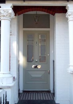 Solid VG Fir Square Top Round Lite SDL traditional front doors ...