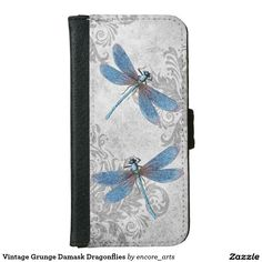 f8f4fd03ffd Vintage Grunge Damask Dragonflies Wallet Phone Case For iPhone 6/6s - A  vintage collage