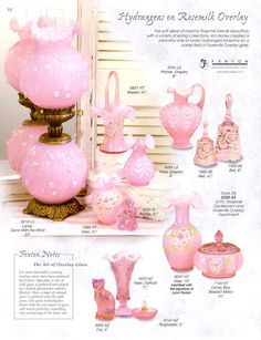 FENTON ART GLASS 2003 CATALOG Fenton Lamps, Fenton Glassware, Vintage Glassware, Cut Glass, Glass Art, Antique Appraisal, Pink Milk, Glass Company, Vintage Lamps