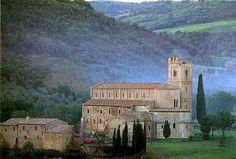 Abbazia di Sant'Antimo (abbey near Montalcino) region of Tuscany Italy