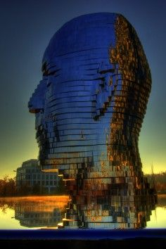Metamorphosis or the Giant Head in Charlotte, North Carolina is a giant head that rotates and spits water!
