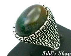 Men's Ring Turkish Ottoman Style Jewelry 925 Sterling Silver by IdilsShop