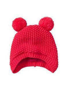 Bear pom-pom hat   Gap