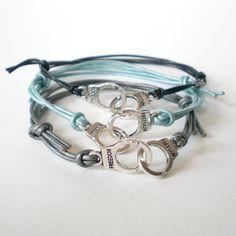 handcuffs cuff bracelet, friendship bracelet, rocker, teen, adjustable leather cuff, stacking bracelet, festival bracelets