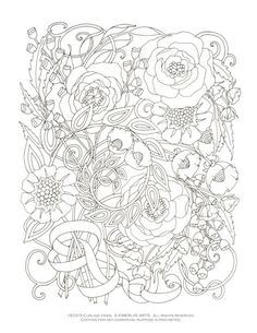 Printable Coloring Page - Curling Vines