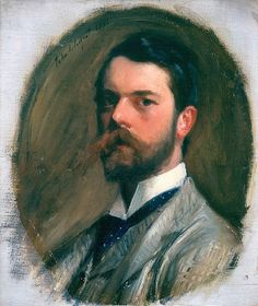 """John Singer Sargent (American, 1856–1925). Self-Portrait, 1886. Aberdeen Art Gallery & Museums Collections 