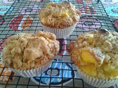 Muffins de pêssego