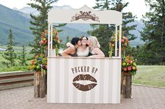 kissing booth.