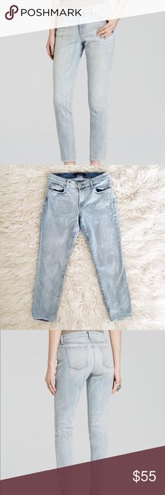 J Brand Cropped Ellis Jeans J Brand Cropped Ellis jeans featuring a top block that sits low and relaxed at the waist and a cropped hem. In the light wash color Love Cat. Barely worn, great condition. True to size J Brand Jeans Ankle & Cropped