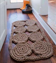 Jute Rug from AwareKnits    http://www.amazon.com/AwareKnits-Crochet-Projects-Eco-Conscious-Stitcher/dp/1600594697/ref=sr_1_1?ie=UTF8=1338903827=8-1