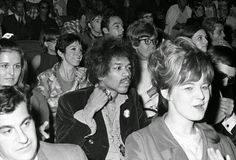 This is a photo of the audience which included Jimi Hendrix at a Martin Luther King Jr  Benefit concert at Madison Square Garden in New York City, 1968